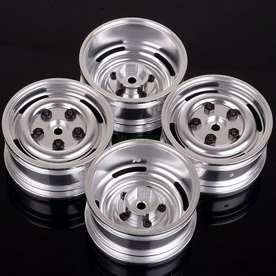 1/10 model On-Road car Aluminum wheel rims Silver emulation metal Rims HSP 104S