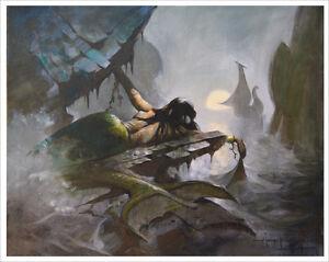 MERMAID-SHIP-Oceanic-Mike-Hoffman-Art-Print-SIGNED