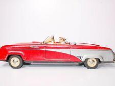 """Rare 1950's Philip Niedermeier 13"""" Tin Friction Thunderbird  with Driver and Dog"""