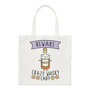 Joke Drunk Shopper Crazy Whisky Shoulder Beware Bag Tote Lady Small Funny nfZ0fwUAqg