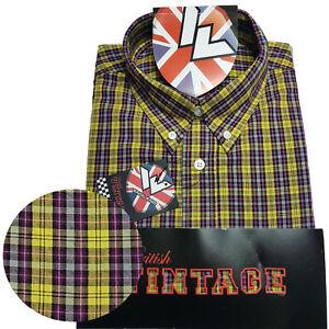 Warrior-UK-England-Button-Down-Shirt-DOUBLE-BARREL-Hemd-Slim-Fit-Skinhead-Mod
