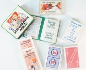 Konvolut-Skatblatt-7-Stueck-Skat-Kartenspiel-Vintage-Werbekartenspiel-Rowenta