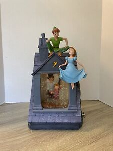 """SUPER RARE Disney Store Peter Pan """"You Can Fly!"""" Snowglobe All Working With Box"""