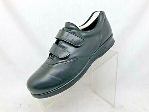 euc sas black leather tripad comfort casual walking shoes