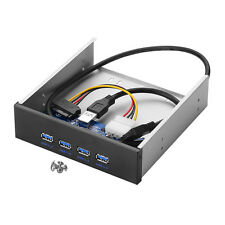 "4 Port USB 3.0 Hub - intern - 5,25"" Schacht -20Pin Schwarz Superspeed Verteiler"