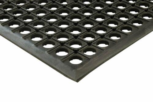 "Erie herramientas 2x3 Negro De Goma Drenaje Piso Mat 24/"" X 36/"" anti fatiga Antideslizante"