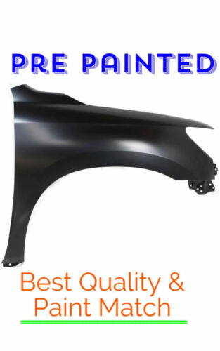 New PRE PAINTED Passenger RH Fender for 2008-2016 Toyota Sequoia w Free Touch Up