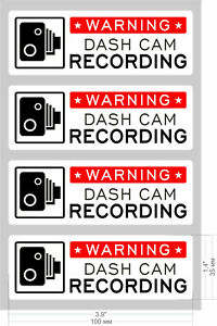 4-x-Dash-Cam-Warning-Sticker-Sign-Window-Car-Vehicle-CCTV-Video-Recording