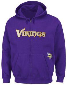 339d4ffa8 Minnesota Vikings NFL Mens Full Zip Time Delay Hoodie Purple Big ...