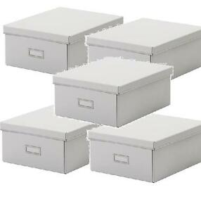 5 x large ikea smÅrassel (smarassel) white storage boxes with lids  sc 1 st  Sport Inpiration Gallery & Ikea Storage Boxes With Lids u2013 Sport Inpiration Gallery