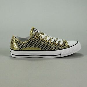 35d5f335b9de Converse CT AS OX Leather Trainers Gold Black White New in box UK ...