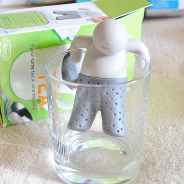 Mr.Tea Infuser Loose Tea Leaf Strainer Herbal Spice Filter Diffuser Silicone