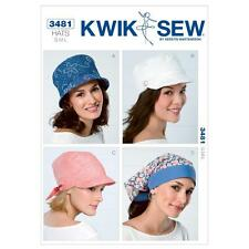 KWIK SEW SEWING PATTERN HATS BUCKET HAT HEAD WRAP LINED HAT SIZE S M L K3481