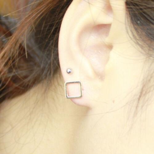 Modern Diamond Shaped Earrings Silver Simple Stud Earrings Geometric Jewelry