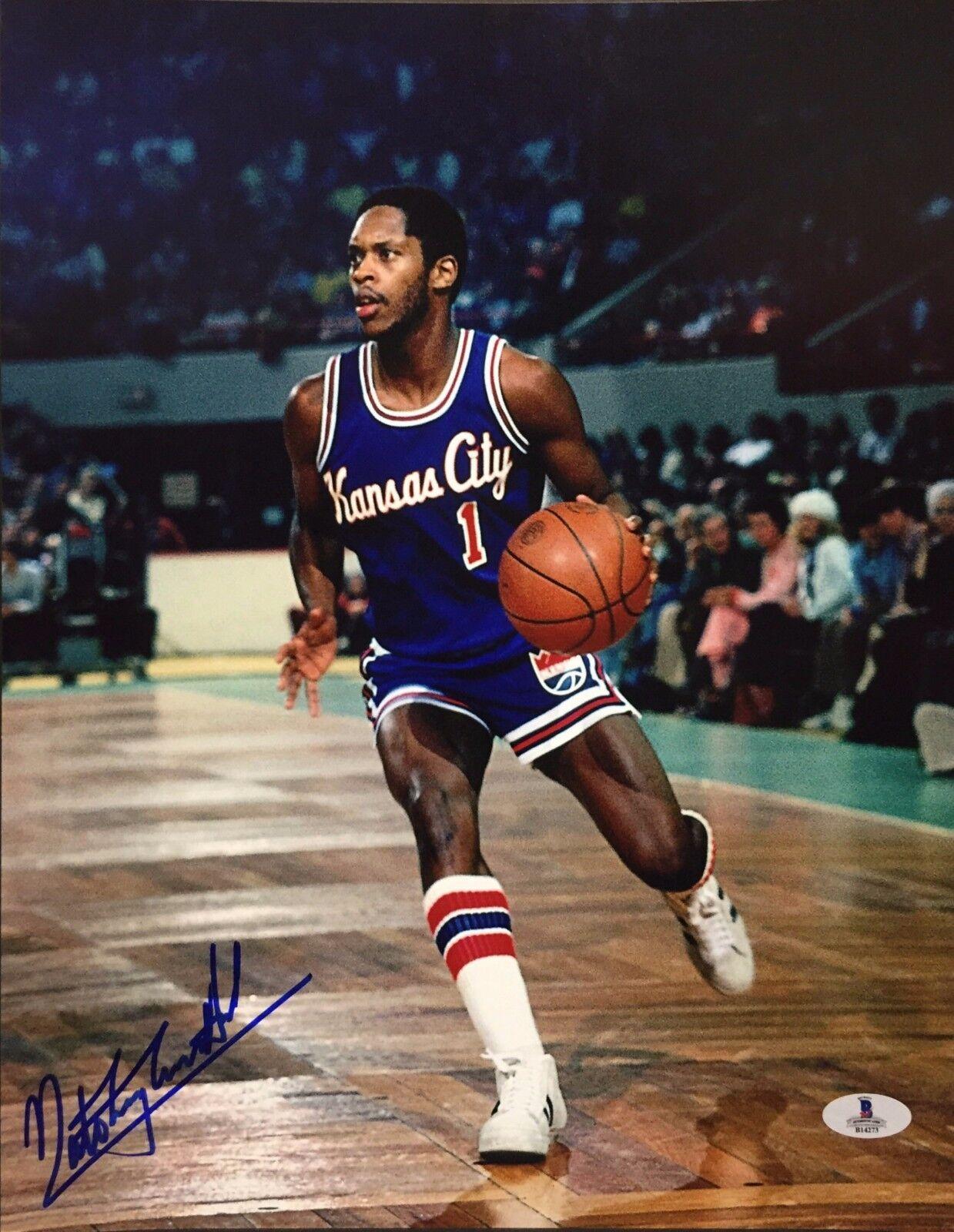 Nate 'Tiny' Thurmond Signed Kansas City 11x14 Basketball Photo Beckett B14273
