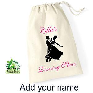Ballroom-Shoe-Cotton-Drawstring-Bag-Sack-Personalised-Print-Girl-Birthday-Gift