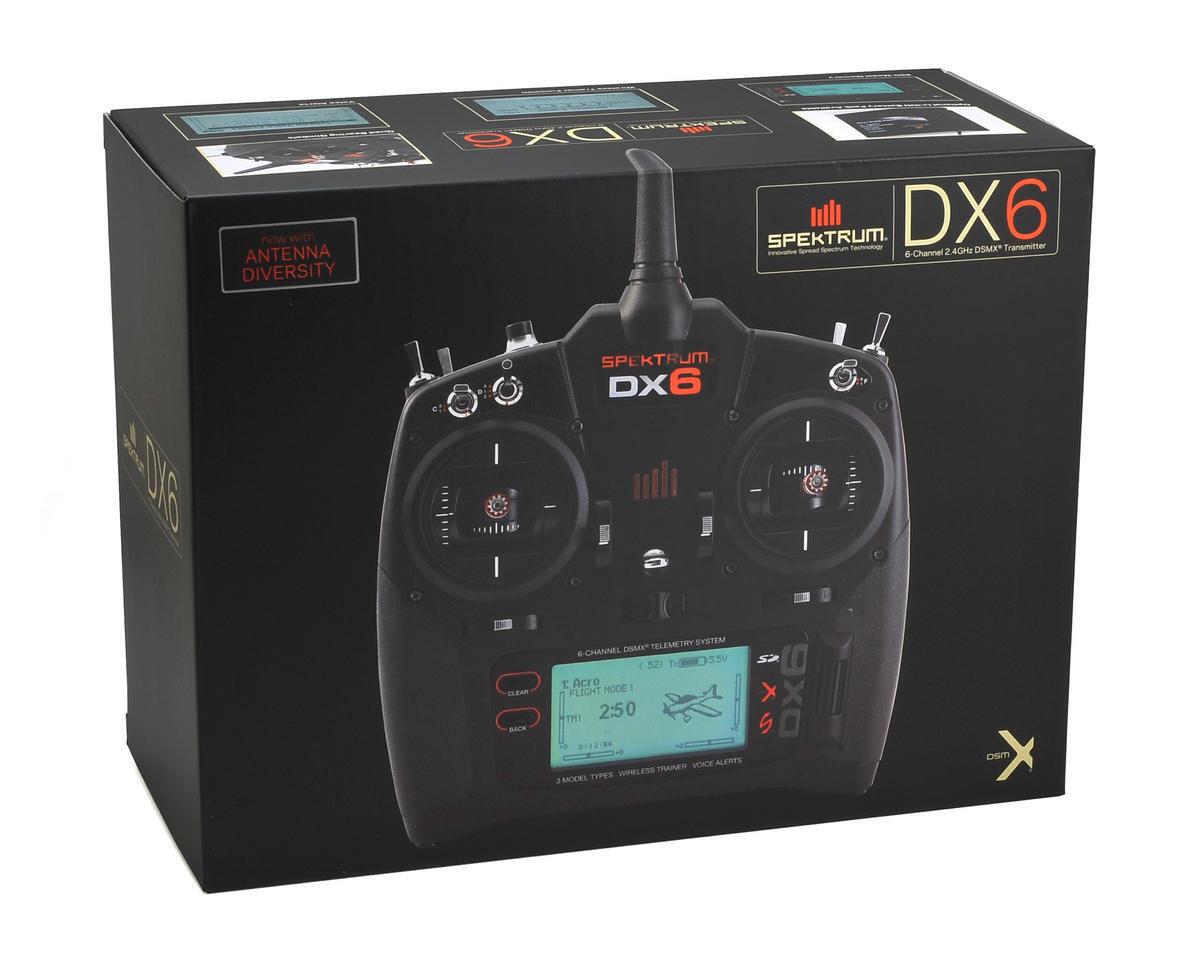 SPMR6750 Spektrum Rc DX6 2.4GHz Dsmx 6 Canal Radio Système Système Système Transmetteur 8878cb