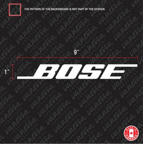 2X BOSE AUDIO sticker vinyl decal