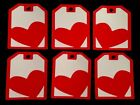 Valentines Day Heart Gift Tags Large Handmade Using Cardstock Red & White