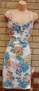 SHE-LIKES-WHITE-FRILLY-TRIM-STRAPPY-MULTI-COLOUR-FLORAL-TAPESTRY-BODYCON-DRESS-L