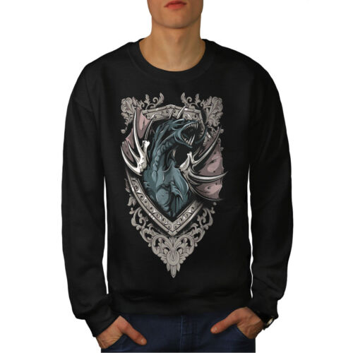 Creature Casual Pullover Jumper Wellcoda Death Dragon Beast Mens Sweatshirt