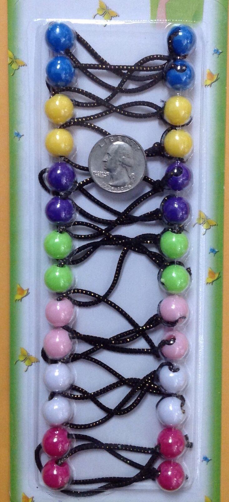 white candy yellow purple sky blue  ELASTIC hair tie girl Balls Ponytail Holder