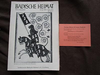 Badische Heimat 1 1974 Hartmann Von Aue Au Hexental Geographisches Verzeichnis