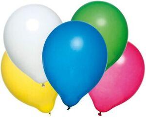 Luftballons-50-Stueck-Latex-helium-geeignet-farbig-Sortiert