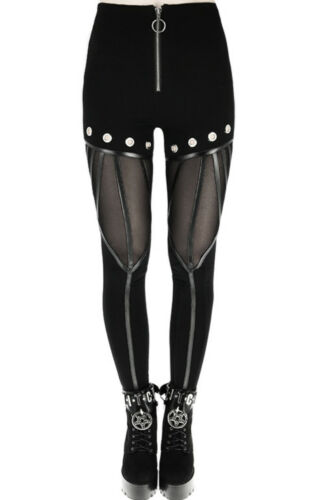 Restyle Eyelets Rings Mesh Straps Gothic Nugoth Punk Leggings Pants Trousers