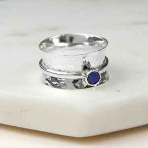 925-STERLING-SILVER-BIRTHSTONE-SPINNING-RING-SEPTEMBER-SAPPHIRE-SIZES-N-P-R1-2
