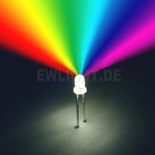 20 LEDs 3mm rgb lentement mariant rouge vert bleu LED pc Modding Auto Modélisme