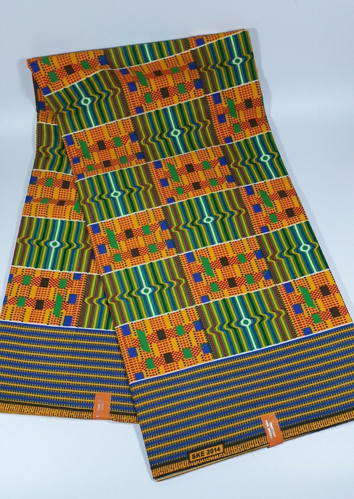 African Kente Wax Print Ghana Kente Fabric 6 Yard Ashante kumasi Kente