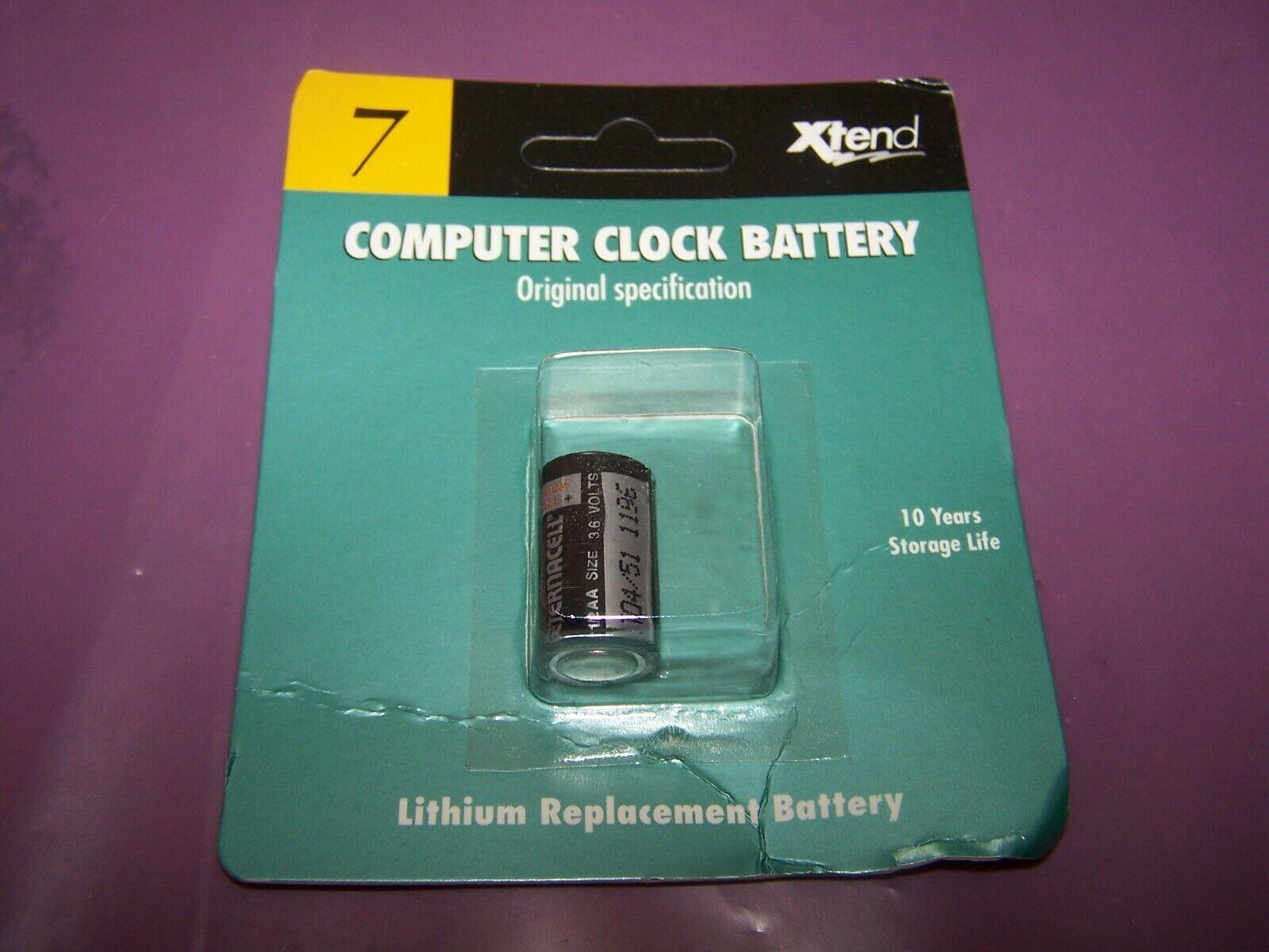 Xtend 3.6 V Lithium Vintage Macintosh Computer Clock Battery P/N 700-260102