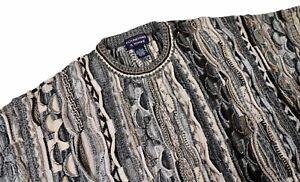 Roundtree & Yorke Vintage 90's COOGI Stil AUF SEE MUNITIONSKISTE Pullover Medium Biggie Bill Cosby