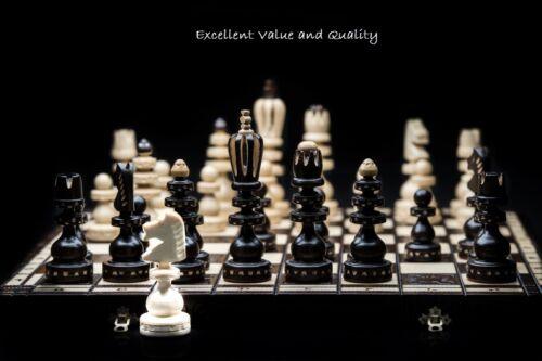 Brand New ♛ Luxury Hand Carved Roman Wooden Chess Set 53cm x 53cm♜