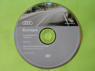 dvd navigation software audi mmi 2g deutschland eu 2017 a4 a5 a6 4f a8 q7 4e0 ebay. Black Bedroom Furniture Sets. Home Design Ideas