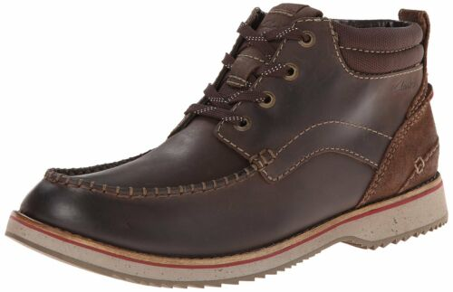Details about  /Men/'s Clarks 1825 Collection Mahale Mid LaceUp Moc Toe Boot Brown 26102589