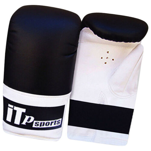 Mens Leather Boxing Mitts Gloves Punch Bag Training Sparring Gloves ADULTS