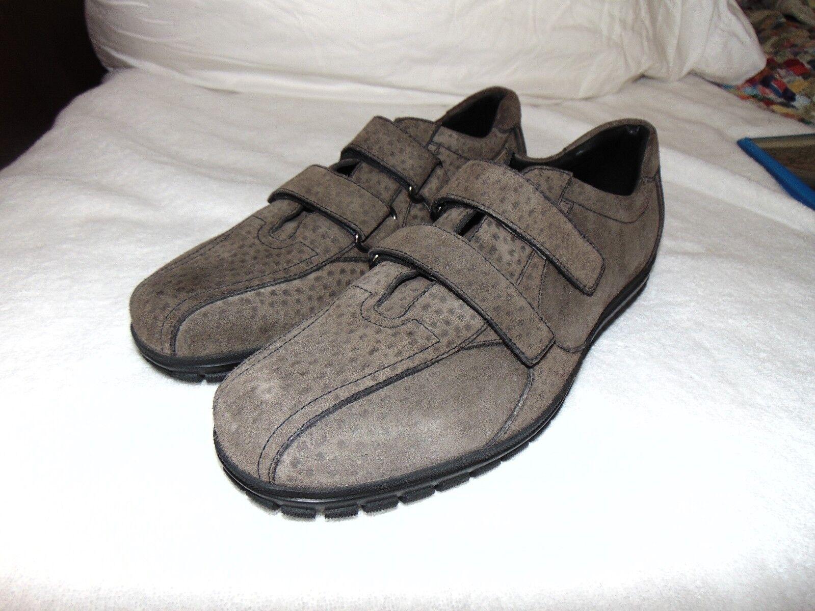 Rétro Classique prada homme leopard cuir vel STRAP baskets Chaussure 10 US 11 T