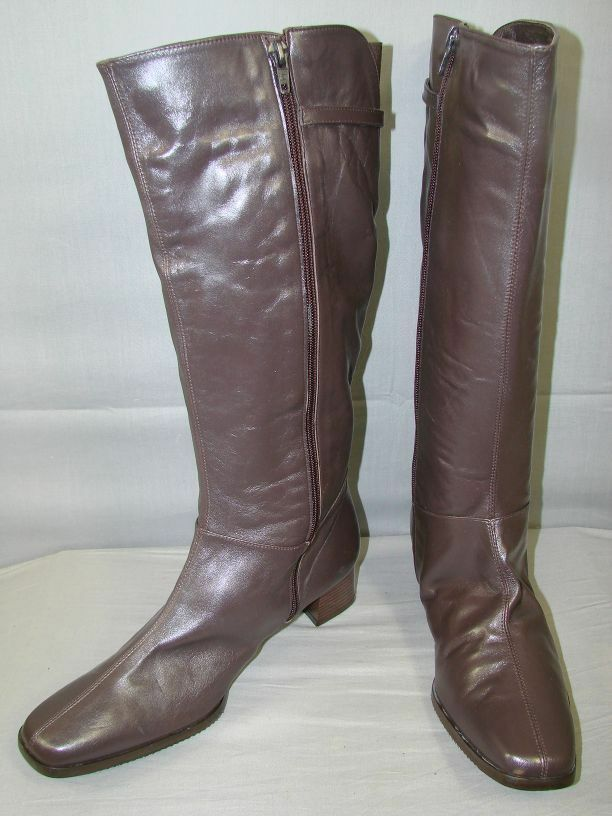 SUPERB BRAND NEW DAMART braun LEATHER LADIES Stiefel Größe UK 8E USA 10 EUROPEAN 41