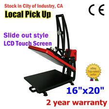 Usa Clamshell Auto Open 16x20in T Shirt Heat Press Machine Vertical Version