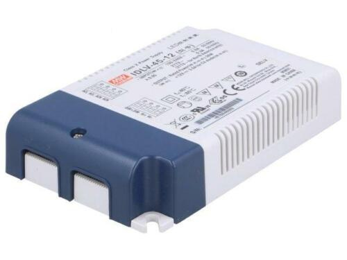 Idlv unidad switched-mode Led 36W 12VDC 3A 90295VAC IP20 Meanwell 45-12 PWR Sup