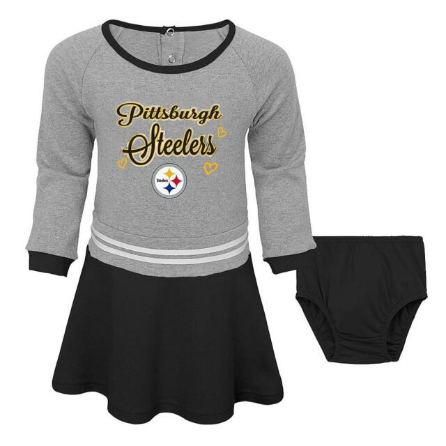 online store bed48 e9423 Pittsburgh Steelers NFL Toddler Girls' Black Dress & Diaper Cover, Size 4T  - NWT