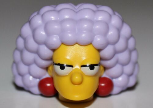 Lego Yellow Head Modified Simpsons Selma with Dark Red Earrings