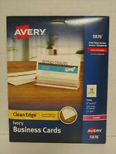 Avery 5876 200 Cards Clean Edge Ivory Business Cards 2 X 3 12 Laser