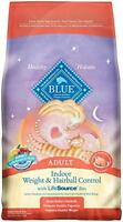 Blue Buffalo Adult Cat Indoor Weight Control Hairball Chicken Dry Cat Food, 7 Lb