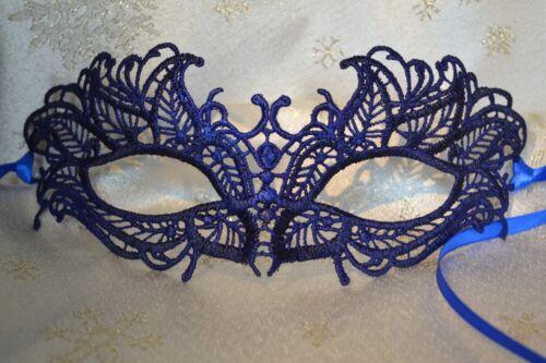 Bleu Masquerade Masque Dentelle Style Vénitien mariages du nouvel an masqué boules Proms