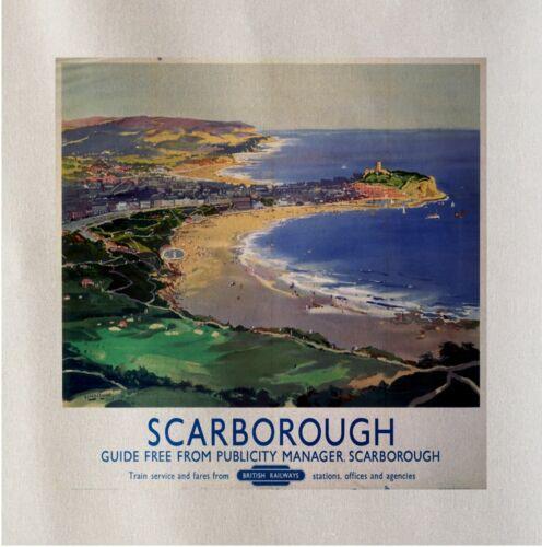 Scarborough Travel Printed Fabric Panel Make Cushion Upholstery Craft