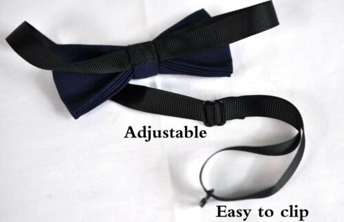 Boy Teenage 100/% Cotton NAVY Blue Bow Tie Bowtie Party Wedding 7-14 Years Old