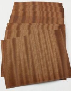 "Pack of 7-9/"" x 9/"" Sheets Variety Pack Wood Veneer ~4 sq ft Raw//Unbacked"